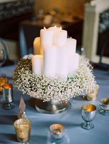17. Arranjo delicado para a mesa dos convidados. Fonte: Salve a Noiva