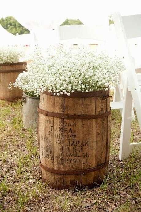 11. Decore o seu casamento com flor mosquitinho. Fonte: Noiva com Classe