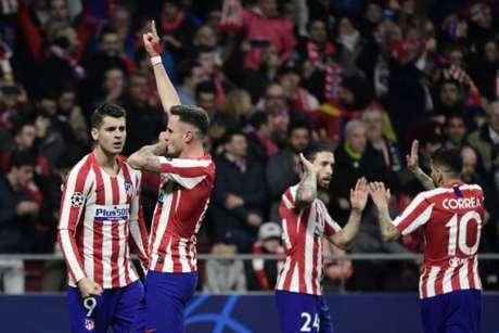 Atlético venceu o jogo de ida, em Madrid (Foto: JAVIER SORIANO / AFP)