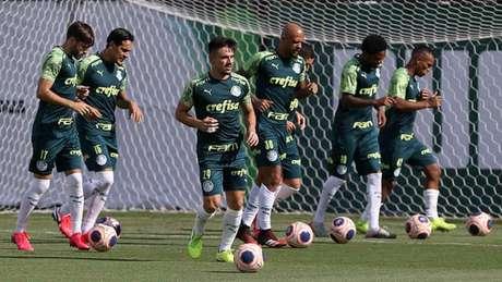 Palmeiras realizou treino técnico na tarde desta terça-feira, na Academia de Futebol (Agência Palmeiras/Divulgação)
