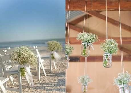 6. A flor mosquitinho se adapta a decorações em ambientes fechados e ao ar livre. Fonte: Fica, vai ter bolo