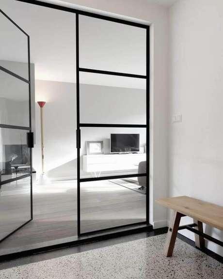 4. Escolha um modelo de porta de ferro para sala que se harmonize ao estilo do ambiente – Foto: Sanne – Atelier Perspective
