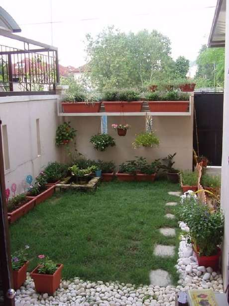 modelo de jardim residencial simples Foto Pinterest