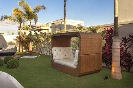 móveis para decoração de jardim residencial moderno Foto Aquiles Nicolas
