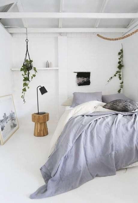 20. Decoração minimalista para quarto branco e cinza – Foto: Neu dekoration stile