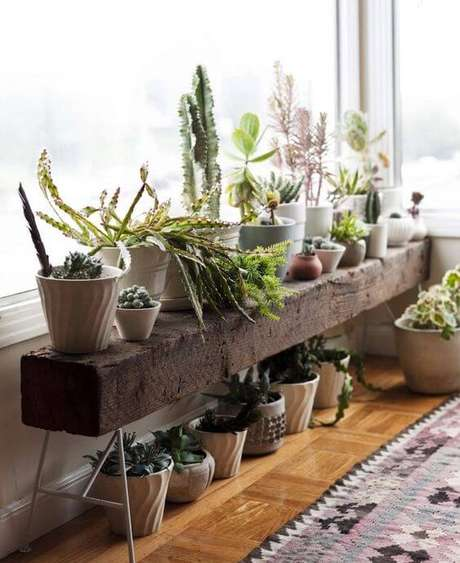 55. Floreira de chão para plantas – Via: Playgrama