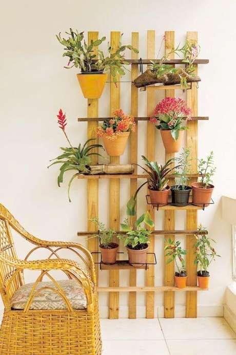 5. Decoração com flores e plantas – Via: Pinterest