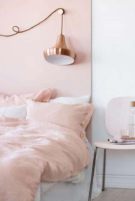 5. A grande vantagem da decoração do quarto rosa e branco é a sensação de aconchego e proteção – Foto: Neu dekoration stile