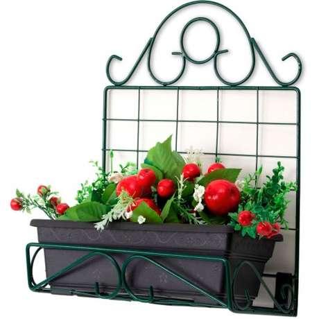 37. Suporte para floreira de ferro – Via: Pinterest
