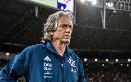 Jorge Jesus pode comandar o Flamengo rumo a mais um título neste sábado (Foto: Nayra Halm/Fotoarena)