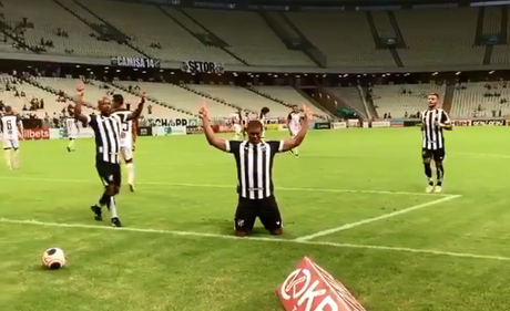 O Ceará bateu o Caucaia por 1 a 0, gol de Rorigão (Foto: Reprodução)
