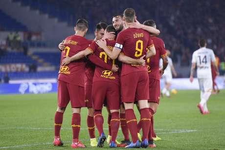 A Roma não tomou conhecimento do Lecce e goleou no Estádio Olímpico (Foto: Divulgação)