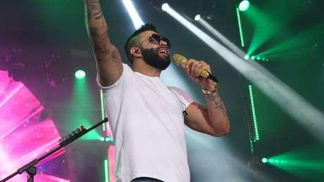 Gusttavo Lima durante show em São Paulo
