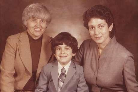 Phyllis e Lillian com Avrom, em 1979, quando tinha 4 anos