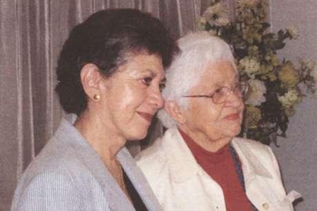 Lillian e Phyllis, no dia do seu casamento, em 2008