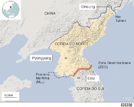 Mapa da Coreia