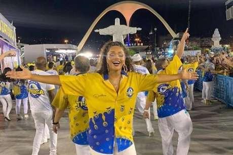Juliana Alves desfilando na Sapucaí pela Unidos da Tijuca, Rio de Janeiro.