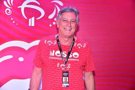 Eduardo Galvão no Nosso Camarote Bradesco, na Sapucaí
