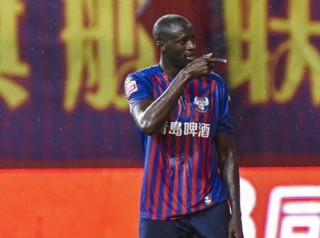 Yaya Touré em seu último clube, o Qingdao Huanghai, da China (Foto: Divulgação/Yaya Touré)
