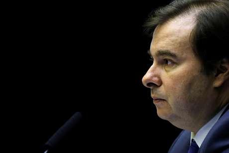 Rodrigo Maia durante sessão na Câmara 10/7/2019 REUTERS/Adriano Machado
