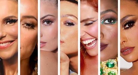 Famosas com make de Carnaval (Fotos: Reprodução/Instagram)
