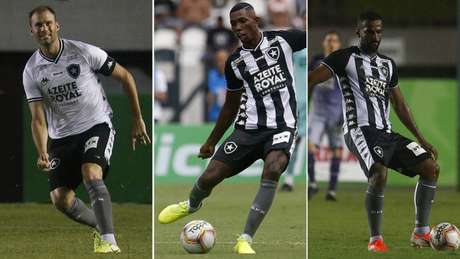 Carli, Kanu e Ruan Renato (Foto: Vítor Silva/Botafogo)