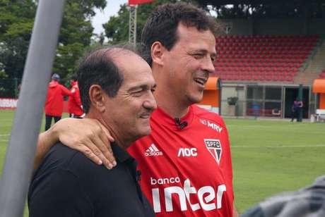 Muricy Ramalho e Fernando Diniz juntos no CT da Barra Funda - FOTO: Divulgação/São Paulo FC