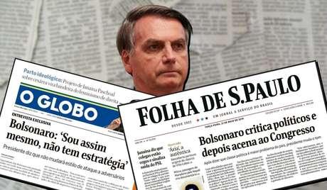 Bolsonaro não se cansa de afirmar ser perseguido por grandes companhias de comunicação do País