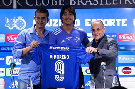 Marcelo Moreno deve estrear na próxima partida do Cruzeiro. Foto: Reprodução / Cruzeiro
