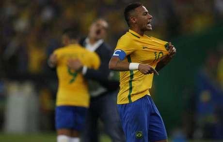 Neymar liderou o Brasil ao ouro olímpico inédito nos Jogos Rio-2016 (Foto: Ari Ferreira)