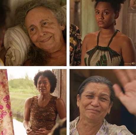 Acima, Zezita Matos (Dona Maria) e Camila (Jessica Ellen); abaixo, Mariana Nunes (Rita) e Lana Guelero (Celeste): coadjuvantes que brilharam em capítulo acurado de Amor de Mãe