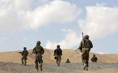Soldados americanos em Pul-e Alam, em uma cidade na província de Logar, leste do Afeganistão