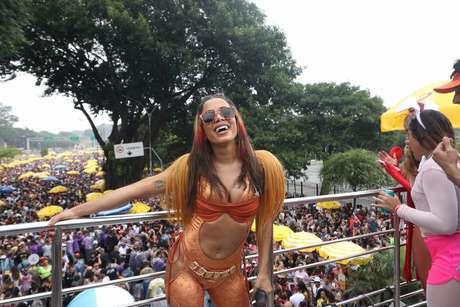 Apresentação do Bloco da Cantora Anitta na região do Parque do Ibirapuera, na zona sul de São Paulo, na manhã deste domingo, 1º de março de 2020.