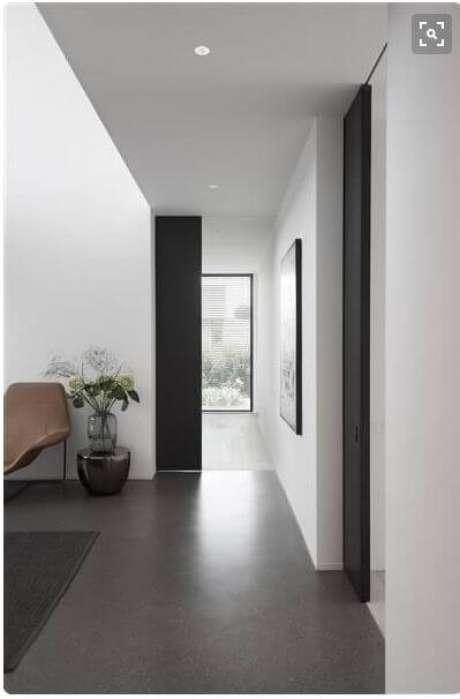 10. O porcelanato cinza escuro é moderno e fica lindo na casa – Via: Pinterest