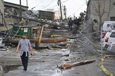 Vista de área destruída por tornado que atingiu Nashville 03/03/2020 REUTERS/Harrison McClary