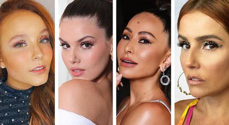 Maquiagem das famosas (Fotos: Instagram/Reprodução)