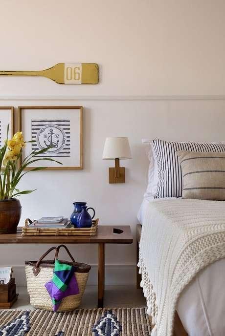 65. Utilize elementos náuticos na decoração da casa de praia. Fonte: Pinterest
