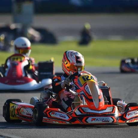 Rafael Câmara levou o Brasil ao pódio do Mundial de Kart em 2019 (Foto: Sportinphoto/RF1)