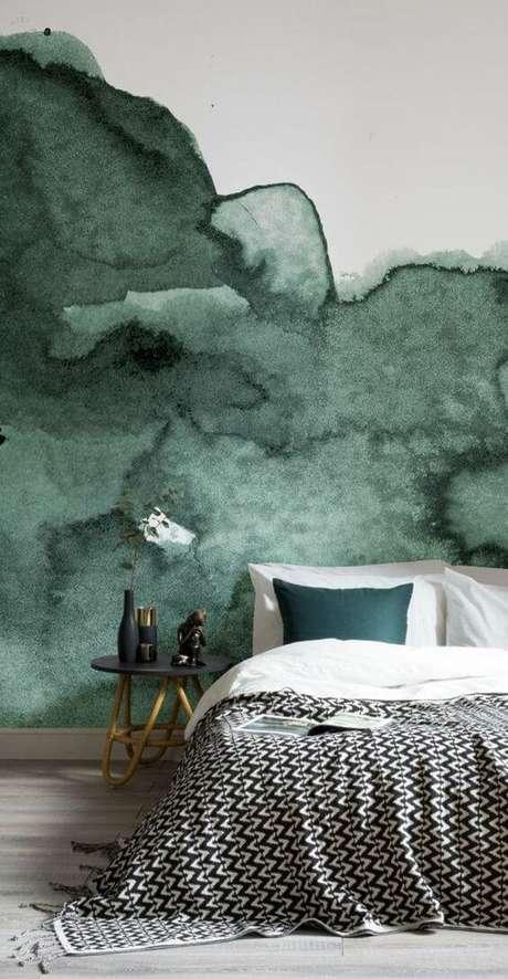 28. Decoração de quarto verde – Via: Pinterest