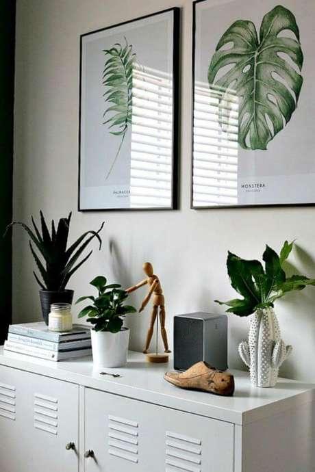 29. Detalhes para decorar seu quarto verde e moderno – Via: Pinterest