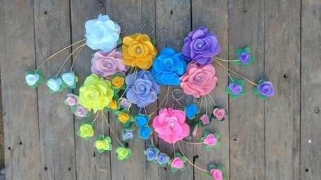 13. Modelo de chaveiro de feltro em formato de flor sem enchimento. Fonte: Mercado Livre