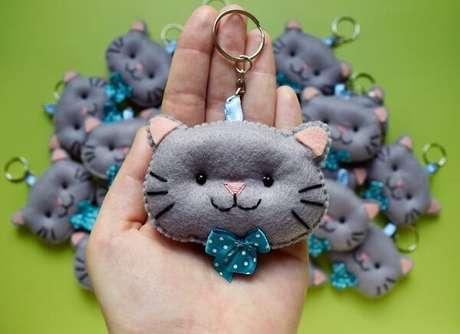 48. Modelo de chaveiro em formato de gato. Fonte: Pinterest