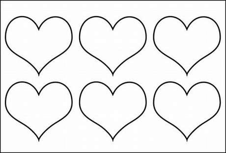 5. Molde de chaveiro de feltro em formato de coração. Fonte: Artesanato Passo a Passo