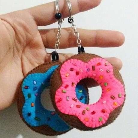 61. Os donuts formam lindos chaveiros. Fonte: Pinterest