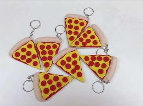 64. Para os amantes de uma boa pizza essa se torna uma excelente opção chaveiro. Fonte: Pinterest