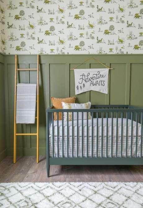 44. Quarto de bebê em tons de verde – Via: Pinterest