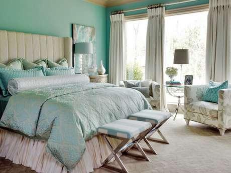 51. Os tons de verde claro são elegantes e sofisticados – Via: Pinterest
