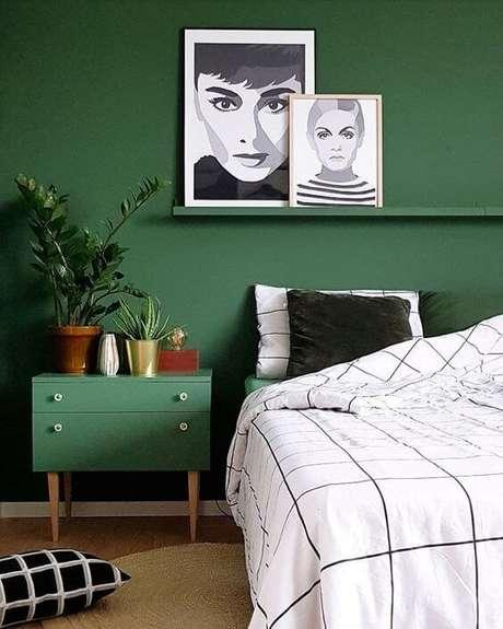 1. Quarto verde e moderno – Via: Casa Vogue