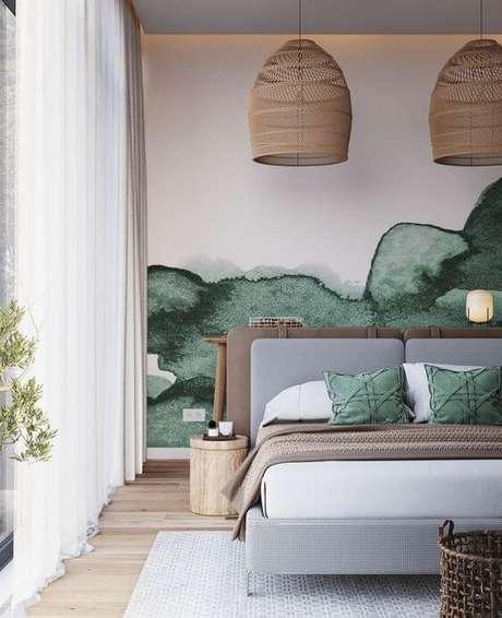 58. Quarto verde e clean – Via: Pinterest