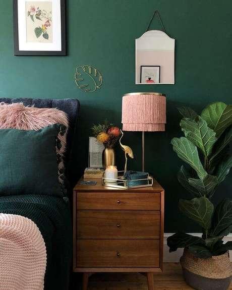 59. A combinação de verde e rosa é linda! – Via: Pinterest